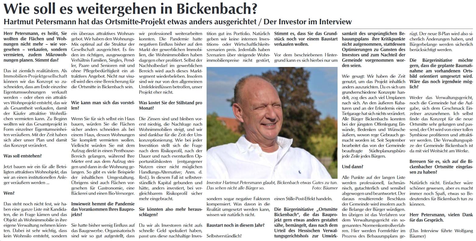 Interview Hartmut Petersmann Neue Mitte